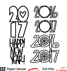 2017 Happy New Year Free Cut File