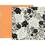 Paper 2 Black Roses 12x12 Paper-Pink Paislee Spellcast