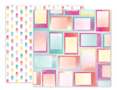 Summer Lights #7 Frames/Popsicles 12x12 Paper-Pink Paislee