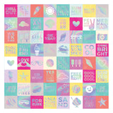 Summer Lights Adhesive Backed Silver Foil 12x12 Specialty Paper-Pink Paislee