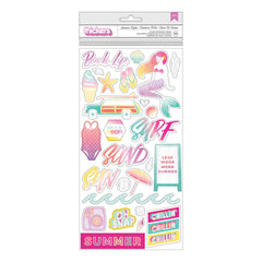 Summer Lights Foil Accent Thickers-Pink Paislee Summer Lights