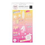 Summer Lights Word Jumble Stickers-Pink Paislee