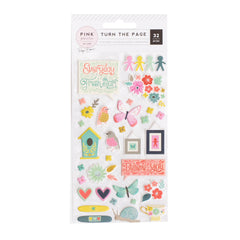 Puffy Stickers Turn The Page-Pink Paislee