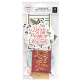 Ephemera Die Cuts-Together For Christmas-Pink Paislee