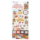 6x12 Accent Stickers-Together For Christmas-Pink Paislee