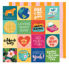 Fit To Be Square 12x12 Paper-Amy Tangerine Hustle & Heart