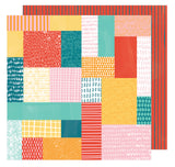 Patchwork Show 12x12 Paper-Amy Tangerine Hustle & Heart