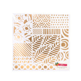 Hustle & Heart Gold Foil 12x12 Specialty Paper-Amy Tangerine