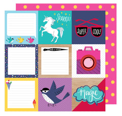 Be A Square 12x12 Paper-Shimelle Glitter Girl