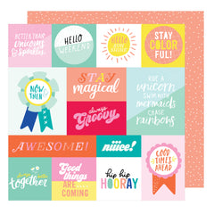 Radical 12x12 Paper-Dear Lizzy Stay Colorful