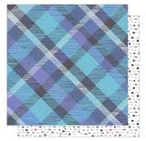 Woodland Plaid 12x12 Paper American Crafts Hazelwood