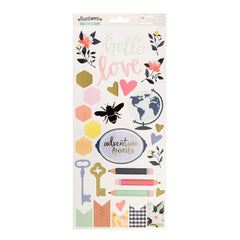 Hazelwood 6x12 Accent Stickers American Crafts