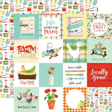 3x3 Journaling Cards 12x12 Paper-Carta Bella Farm To Table