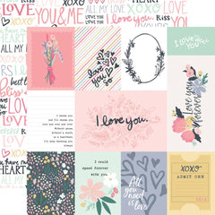 3x4 Journaling Cards 12x12 Paper-Echo Park You & Me