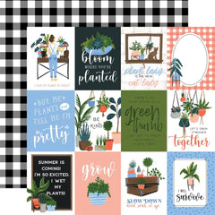 3x4 Journaling Cards 12x12 Paper-Echo Park Plant Lady