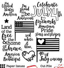 4th Of July-Free Cut File