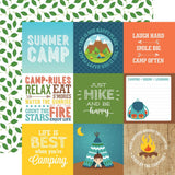 4x4 Journaling Cards 12x12 Paper-Echo Park Summer Adventure