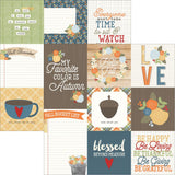 Hello Fall 4x4 & 4x6 Vertical Elements 12x12 Paper-Simple Stories