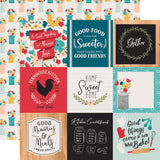4x4 Journaling Cards 12x12 Paper-Echo Park Farmhouse Kitchen