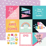 4x4 Journaling Cards 12x12 Paper-Echo Park Teen Spirit Girl