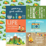 4x6 Journaling Cards 12x12 Paper-Echo Park Summer Adventure