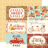 4x6 Journaling Cards 12x12 Paper-Carta Bella Fall Market
