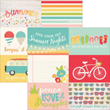 Summer Days 4x6 Horizontal Journaling Cards 12x12 Paper-Simple Stories
