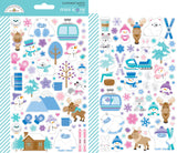 Mini Icon Stickers-Winter Wonderland-Doodlebug