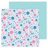 Snowflowers 12x12 Glitter Paper-Doodlebug Winter Wonderland