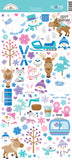 6x12  Glitter Stickers-Winter Wonderland-Doodlebug