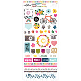 6x12 Glitter Stickers-Slice of Life-Amy Tangerine