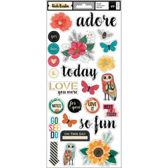 6x12 Accent Stickers-Wildflower & Honey-Vicki Boutin