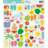Sunshiny Days 6x12 Accent Stickers -Pebbles