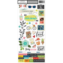 6x12 Accent Stickers-Let's Wander-Vicki Boutin
