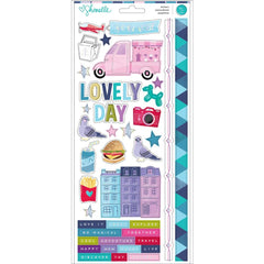 6x12 Cardstock Stickers-Shimelle Sparkle City