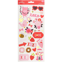 My Funny Valentine 6x12 Accent Stickers-Pebbles