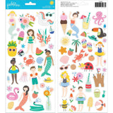 6x12 Cardstock Stickers-Pebbles Oh Summertime
