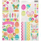 Hello Spring 6x12 Accent Stickers-American Crafts