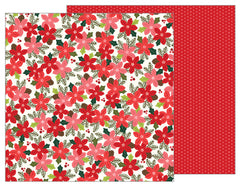 Poinsettia Blossoms 12x12 Paper-Pebbles Merry Merry