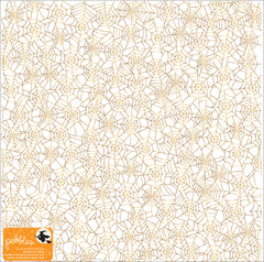 Spiderweb Vellum 12x12 Gold Foil Specialty Paper-Pebbles Midnight Haunting