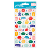 Puffy Speech Bubbles Stickers-Happy Cake Day-Pebbles