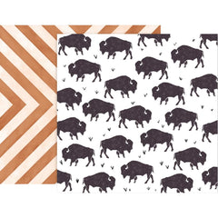 Paper 7 Buffalo 12x12 Paper-Pink Paislee Sweet Freedom