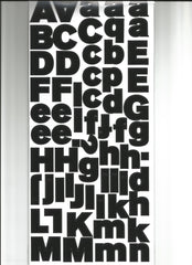 Allie Alpha Black Letter Stickers-American Crafts