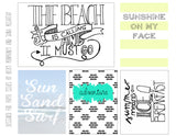 The Beach Is Calling Free Printable File
