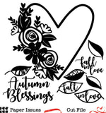 Autumn Blessings-Free Cut File