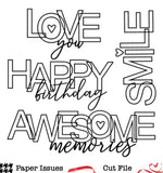 Awesome Memories-Free Cut File