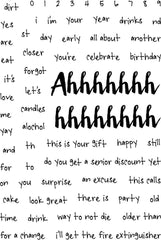 Ahh Real Birthday Sentiments Stamp Set-Snarky Stamps