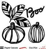 Boo Pumpkins-Free Cut File