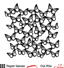 Butterfly Background Free Cut File