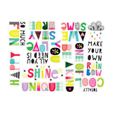 Stay True Words Die Cuts-Pretty Little Studio Color Me Happy